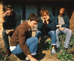 blur, alex james, and damon albarn image