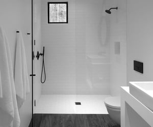 black, interior design, and white image