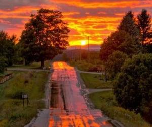 природа, закат, and пейзаж image