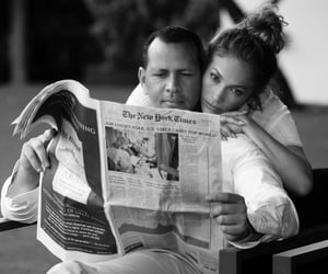 black and white, celebrity, and famous couple image