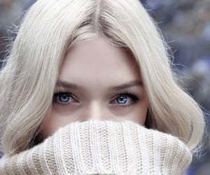 winter, blonde, and blue image