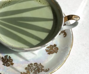 green, aesthetic, and tea image