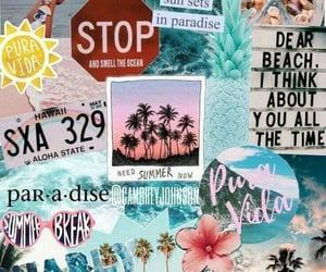 wallpaper, summer, and beach image