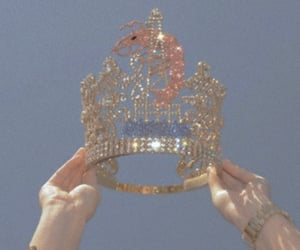 crown, blue, and Queen image