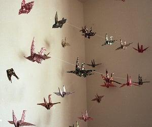 origami, bird, and photo image