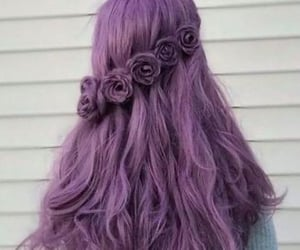 aesthetic, beauty, and colorful hair image
