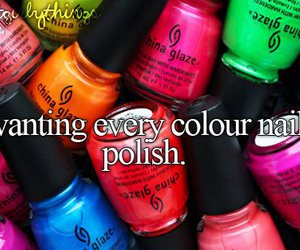 nail polish, nails, and justgirlythings image