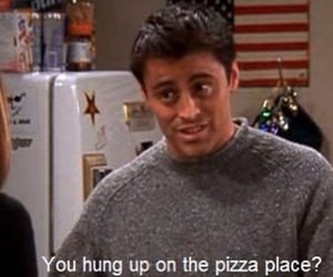 Joey, friends, and pizza image