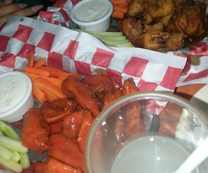 buffalo, hot spicy, and wings image