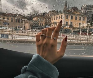 rain, city, and nails image
