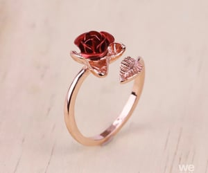 ring, rose, and jewelry image