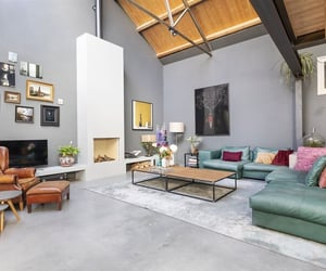 apartment, beams, and home image