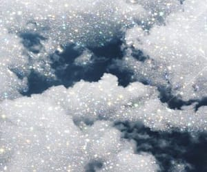 aesthetic, clouds, and sparkles image