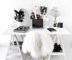 room, white, and decoration image
