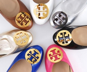 shoes, tory burch, and blue image