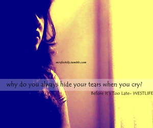 cry, girl, and hide image