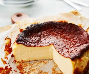 basque, cake, and dessert image