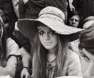 girl, hippie, and black and white image
