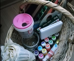 basket, draw, and watercolor image