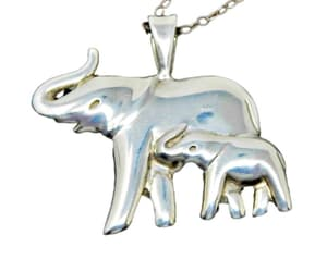 baby elephant, elephants, and sterling silver image