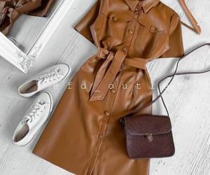 leather dress image
