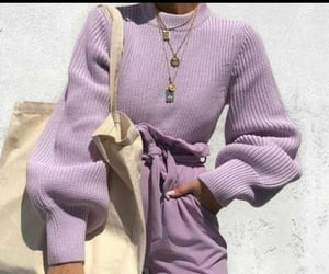 outfit, fashion, and purple image