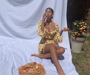 fashion, fruit, and girl image