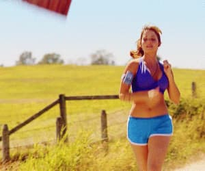 gif, hilarious, and jogging image