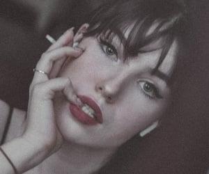 bad girl, black hair, and cigarettes image