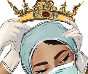 nurses, Queen, and virus image