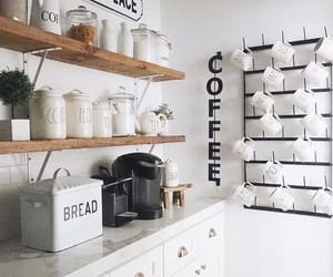 bread, coffee, and white image