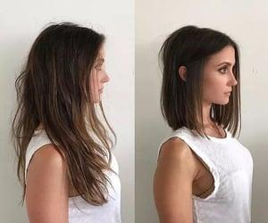 hairstyle, short hair, and bob hair image