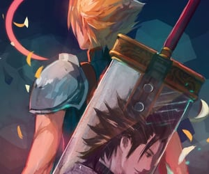 cloud strife, final fantasy VII, and zack fair image