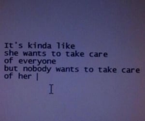care, quote, and her image