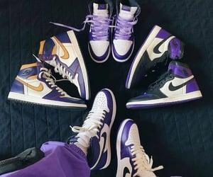 jordan, nike, and purple image