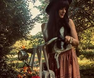 bella, boho chic, and bicicleta image