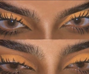 beauty, brown, and lashes image