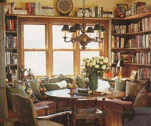 books, cozy, and floral image