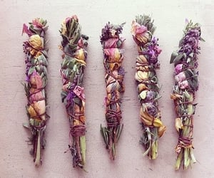 flowers and smudge image