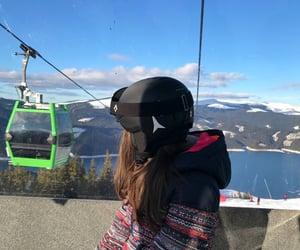 nature, ski, and view image
