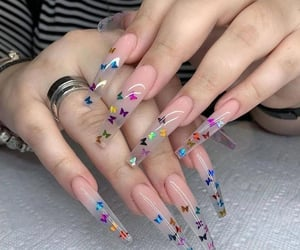 nails and butterfly image