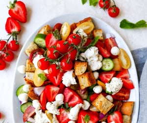 healthy, salad, and strawberries image