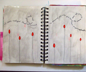 text and art journal image