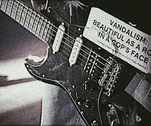 grunge, guitar, and kurt cobain image