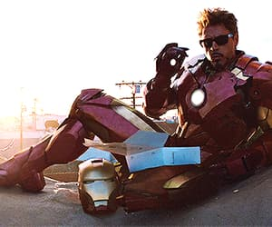 gif, ironman, and Marvel image