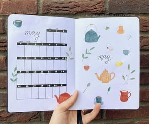 bullet journal, monthly spread, and bujo inspiration image