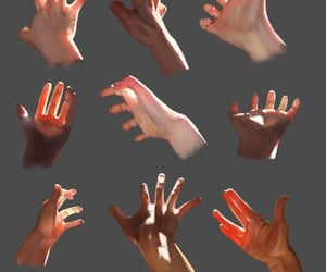 draw, skin, and hands image
