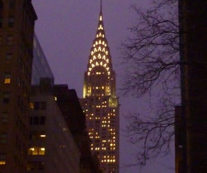 chrysler building, city, and citylights image