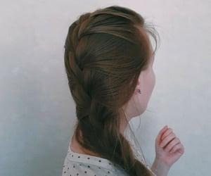 bohemian, hair, and french braid image