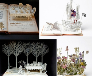 books, fairytale, and flowers image